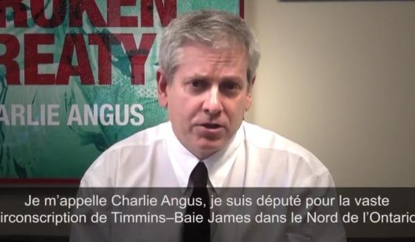 Charlie Angus - a propos des traites